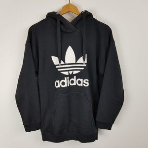 Adidas Hoodie Size 10 Black Trefoil Logo